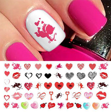 15 amazing valentines day nail art stickers for girls 2016 15 amazing valentines day nail art stickers for prinsesfo Choice Image