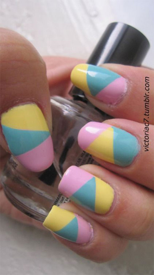 15 Easter Color Nail Art Designs, Ideas & Stickers 2016