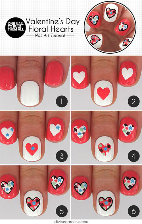 15 Step By Step Valentine\'s Day Nail Art Tutorials For Beginners ...