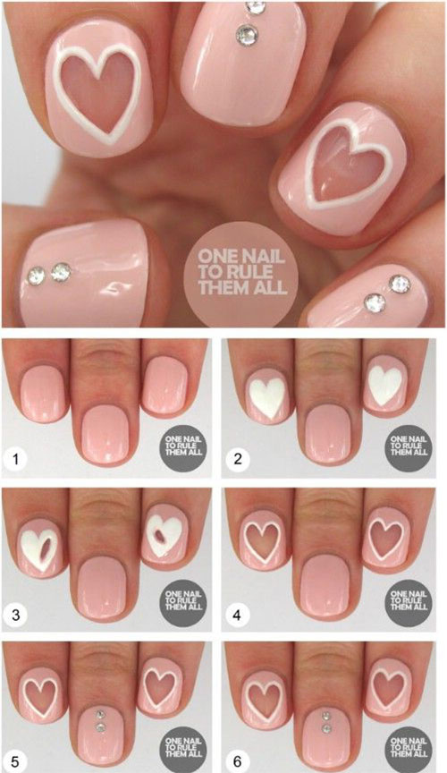 15-Step-By-Step-Valentines-Day-Nail-Art-Tutorials-For-Beginners-2016-2