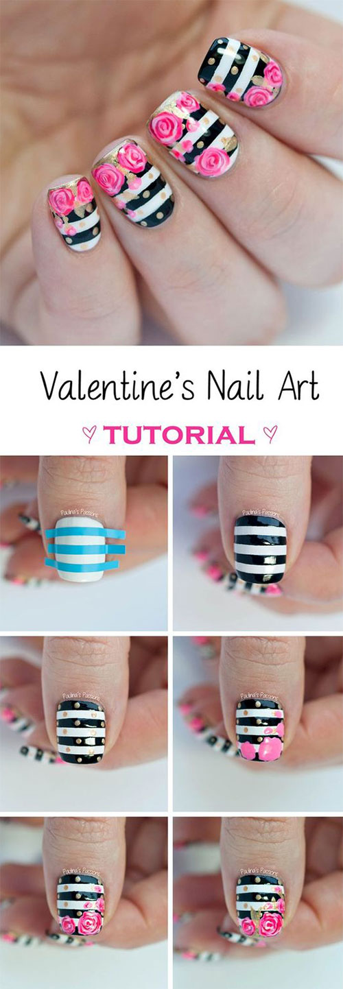 15-Step-By-Step-Valentines-Day-Nail-Art-Tutorials-For-Beginners-2016-4
