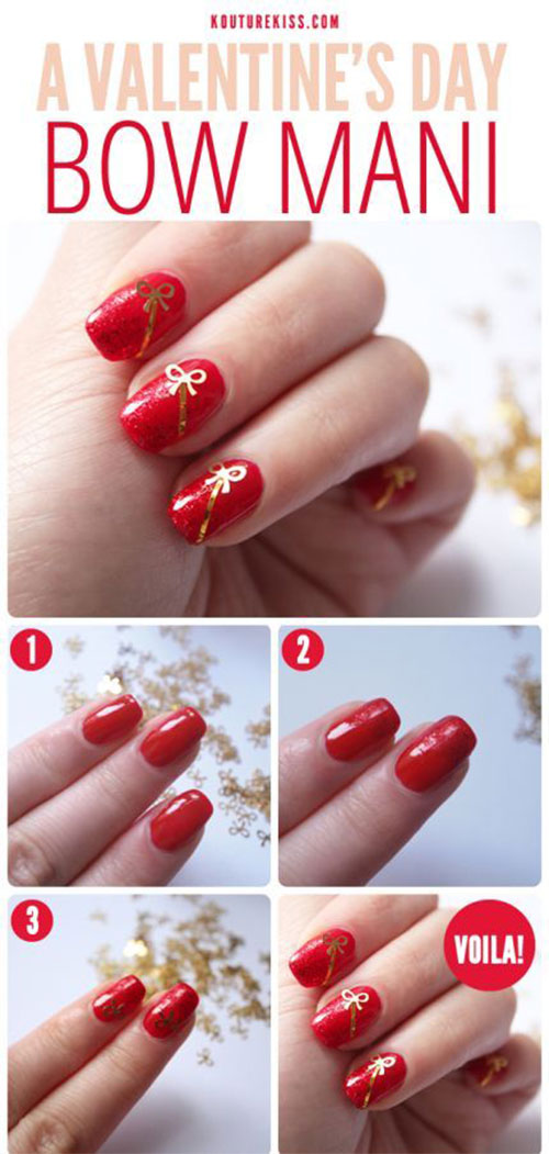 15-Step-By-Step-Valentines-Day-Nail-Art-Tutorials-For-Beginners-2016-5