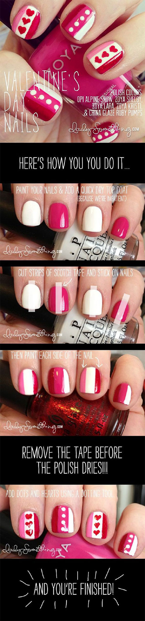 15-Step-By-Step-Valentines-Day-Nail-Art-Tutorials-For-Beginners-2016-9