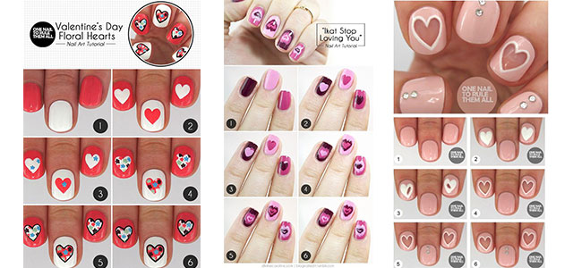 15-Step-By-Step-Valentines-Day-Nail-Art-Tutorials-For-Beginners-2016-F