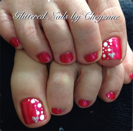 Nail art design 2016 pedicure best nails 2018 15 valentine s day toe nail art designs ideas stickers 2016 prinsesfo Images