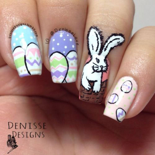 Easy nail art for easter image collections nail art and nail easy nail art for easter choice image nail art and nail design ideas easy easter nail prinsesfo Choice Image