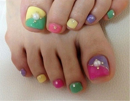 12 Easter Toe Nail Art Designs Ideas 2016