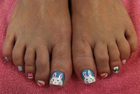 12 Easter Toe Nail Art Designs Ideas 2016