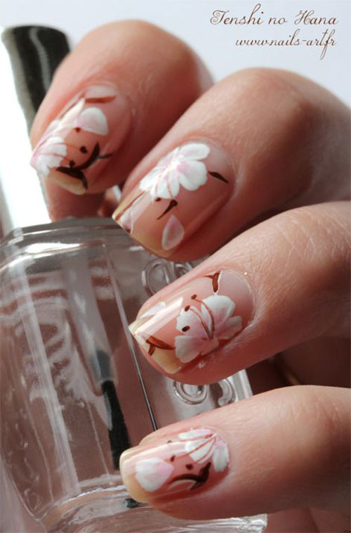 15+ Cherry Blossom Spring Nail Art Designs & Ideas 2016 | Fabulous ...
