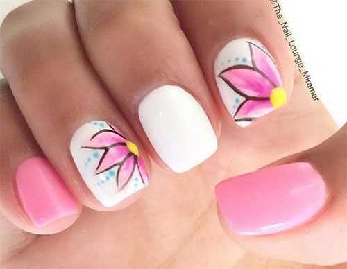 15-Simple-Easy-Spring-Nail-Art-Designs-Ideas- - 15 Simple & Easy Spring Nail Art Designs, Ideas & Stickers 2016