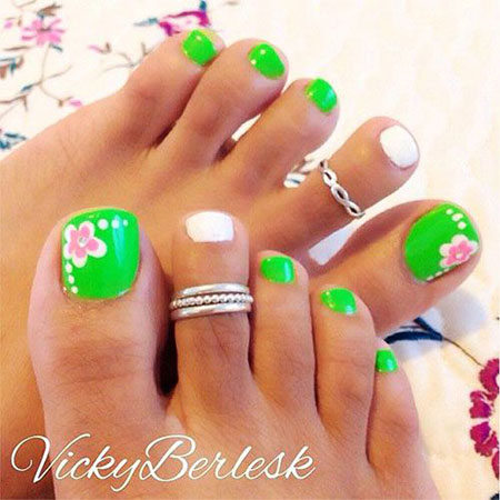 15 spring toe nail art designs ideas amp stickers 2016