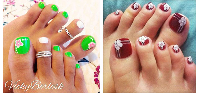 15+ Spring Toe Nail Art Designs, Ideas & Stickers 2016 | Fabulous Nail Art  Designs - 15+ Spring Toe Nail Art Designs, Ideas & Stickers 2016 Fabulous