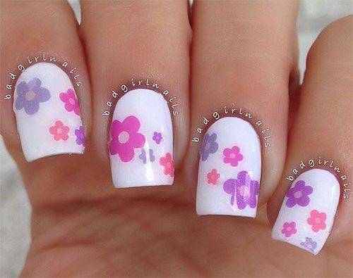 20-Spring-Flower-Nail-Art-Designs-Ideas-2016- - 20 Spring Flower Nail Art Designs & Ideas 2016 Fabulous Nail Art