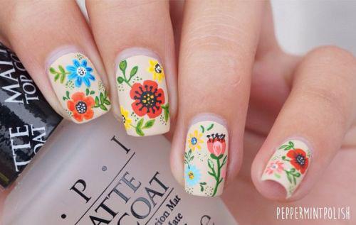 20 Spring Flower Nail Art Designs Ideas 2016 Fabulous Nail Art