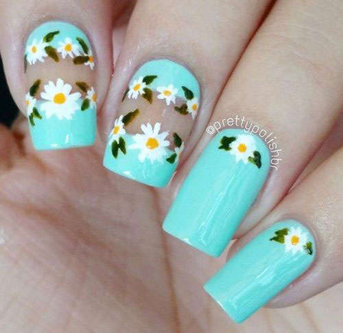 50-Best-Cute-Simple-Spring-Nail-Art-Designs- - 50+ Best & Cute Spring Nail Art Designs, Ideas, Trends & Stickers