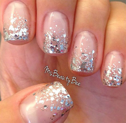 12 gel french tip glitter nail art designs ideas 2016 fabulous nail art designs