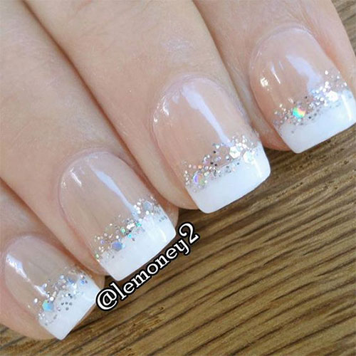 French tip nail art 2016 best nails 2018 12 gel french tip glitter nail art designs ideas 2016 fabulous prinsesfo Images