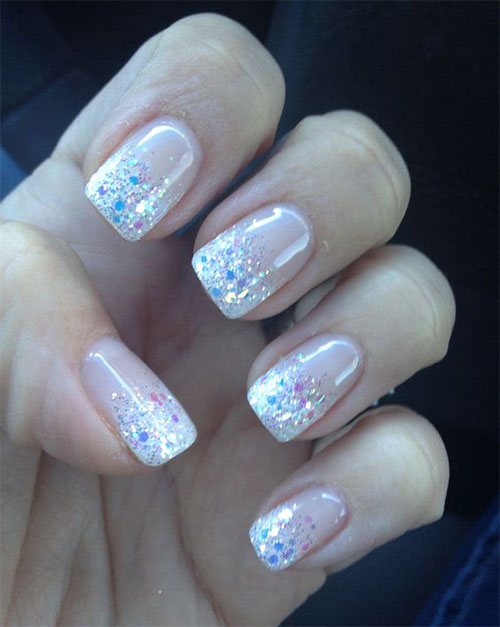 12 gel french tip glitter nail art designs - Nail Tip Designs Ideas