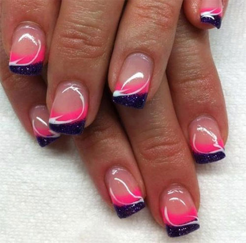 12-Gel-Nails-French-Tip-Designs-Ideas-2016-4