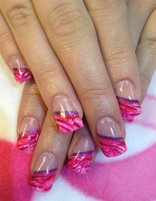 15-Gel-French-Pink-Nail-Art-Designs-Ideas-2016-Gel-Nails-1