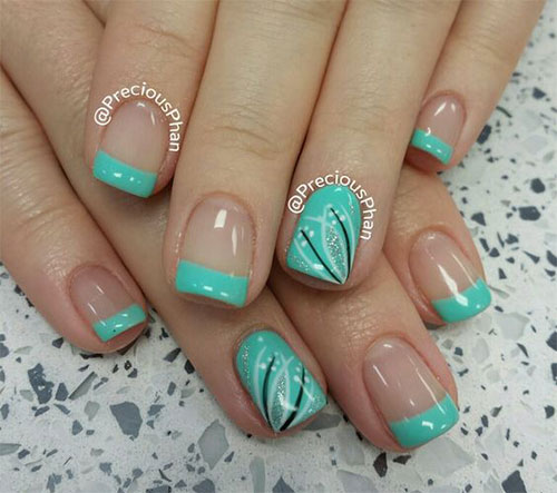 French Design Nail Art Gallery: 15 Gel French Pink Nail Art Designs & Ideas 2016