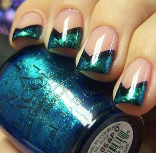 10-Black-Green-Gel-Nail-Art-Designs-Ideas-2016-4