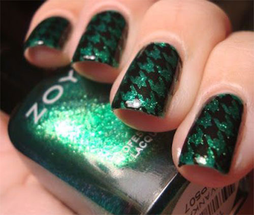 10-Black-Green-Gel-Nail-Art-Designs-Ideas-2016-6