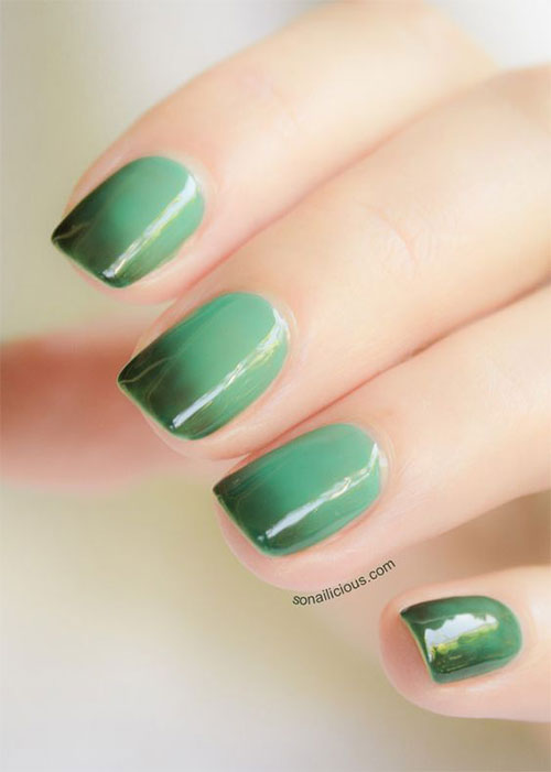 10 Black Amp Green Gel Nail Art Designs Amp Ideas 2016 Fabulous Nail Art Designs