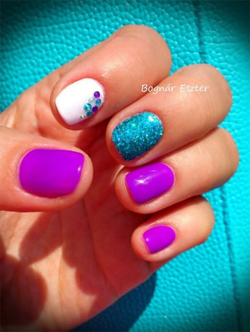 10-Summer-Blue-Nail-Art-Designs-Ideas-2016-5