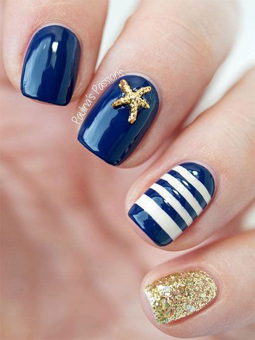 10 Summer Blue Nail Art Designs Amp Ideas 2016 Fabulous Nail Art Designs