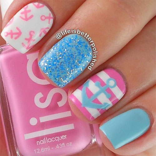 10-Summer-Blue-Nail-Art-Designs-Ideas-2016-8
