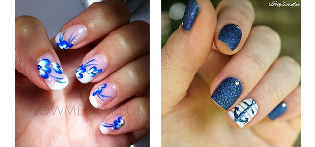 10+ Summer Blue Nail Art Designs & Ideas 2016 | Fabulous Nail Art Designs - 10+ Summer Blue Nail Art Designs & Ideas 2016 Fabulous Nail Art