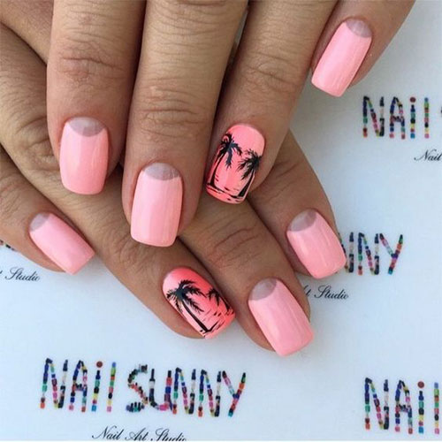 Best Summer Acrylic Nail Art Design Ideas For 2016: 10+ Summer Pink Nail Art Designs & Ideas 2016