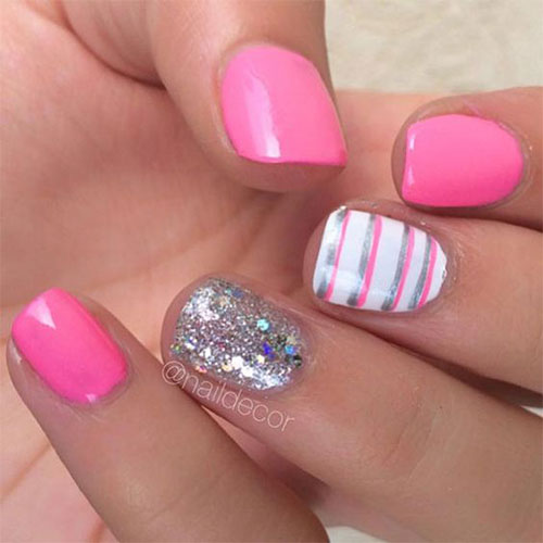 10+ Summer Pink Nail Art Designs & Ideas 2016