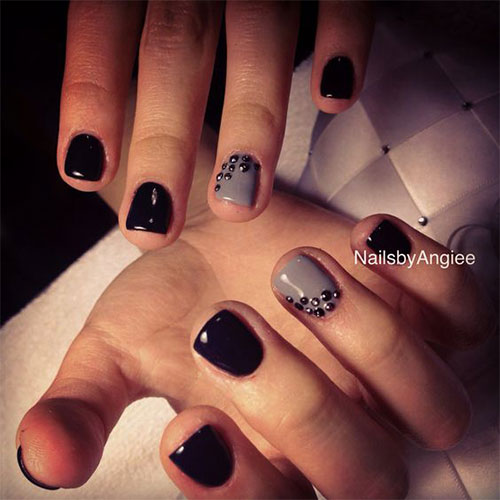 15 black gel nail art designs ideas 2016 - Gel Nails Designs Ideas