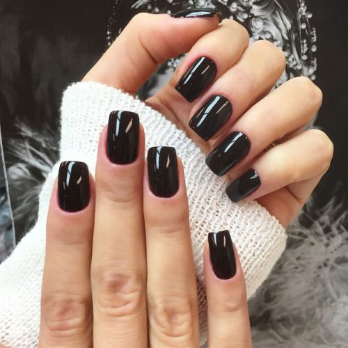 15-Black-Gel-Nail-Art-Designs-Ideas-2016- - 15 Black Gel Nail Art Designs & Ideas 2016 Fabulous Nail Art Designs