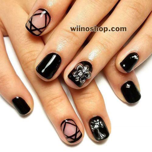 15-Black-Gel-Nail-Art-Designs-Ideas-2016-2