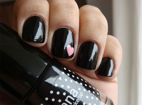15 Black Gel Nail Art Designs & Ideas 2016 | Fabulous Nail Art Designs