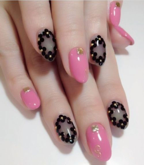 15-Black-Pink-Gel-Nail-Art-Designs-Ideas-2016-1