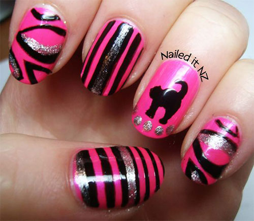 15-Black-Pink-Gel-Nail-Art-Designs-Ideas-2016-11