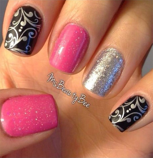 15-Black-Pink-Gel-Nail-Art-Designs-Ideas-2016-12