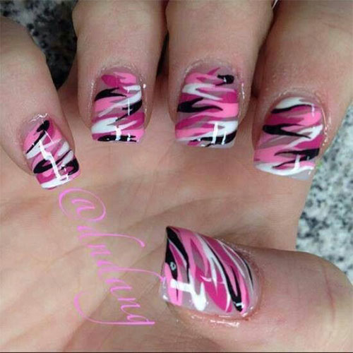 15-Black-Pink-Gel-Nail-Art-Designs-Ideas-2016-13