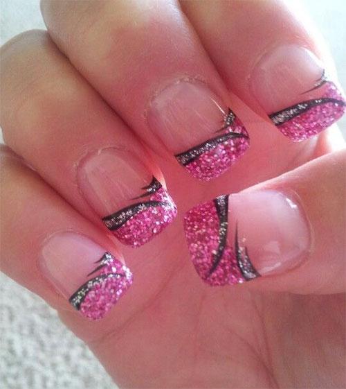 15-Black-Pink-Gel-Nail-Art-Designs-Ideas-2016-14