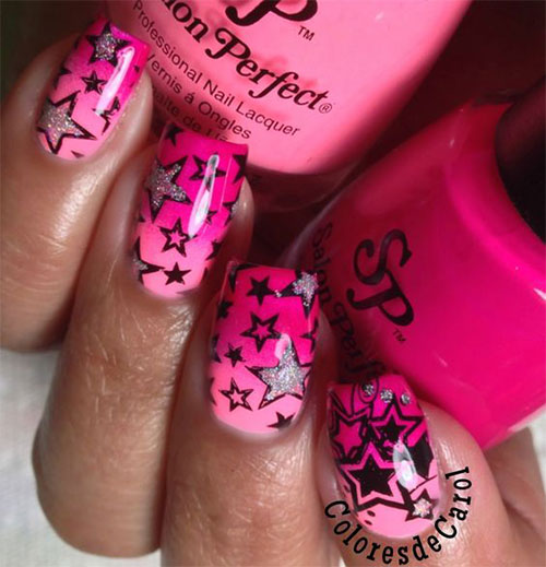 15-Black-Pink-Gel-Nail-Art-Designs-Ideas-2016-16
