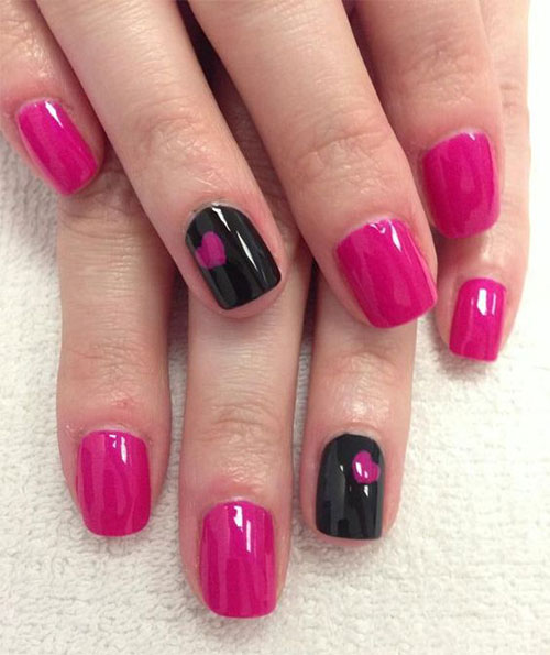 15 Black Pink Gel Nail Art Designs Ideas 2016 Fabulous Nail