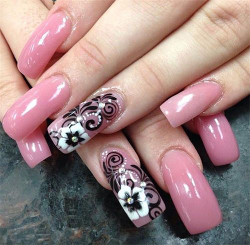 15-Black-Pink-Gel-Nail-Art-Designs-Ideas-2016-5