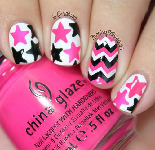 15-Black-Pink-Gel-Nail-Art-Designs-Ideas-2016-6