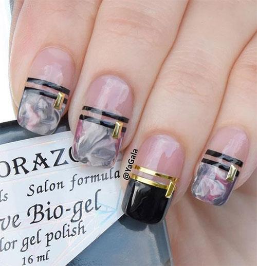 15-Black-Pink-Gel-Nail-Art-Designs-Ideas-2016-8