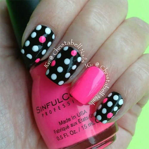 15-Black-Pink-Gel-Nail-Art-Designs-Ideas-2016-9