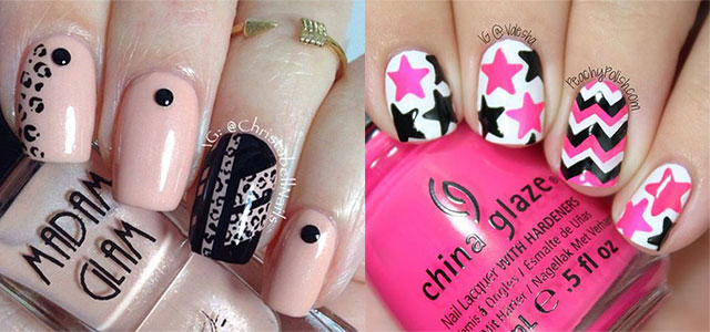 15-Black-Pink-Gel-Nail-Art-Designs-Ideas-2016-f